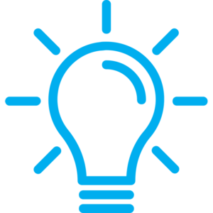 Icon depicting a lightbulb